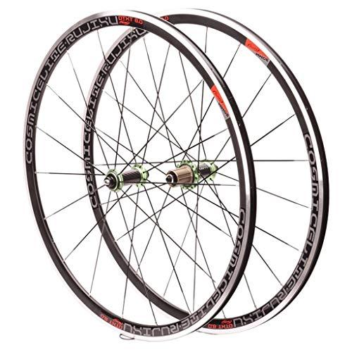 LSRRYD Racefiets Loopwielset 700C cassettewiel aluminium dubbelwandige velgen koolstofvezel naaf V rem fiets afdichting lager QR 8 9 10 11S