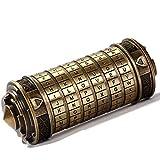 PHLPS Da Vinci Code Cryptex Puzzel Box, Regalos del Día de San Valentín, Lock Cylinder Creative Creative Design Surprise Regalo, Cumpleaños Entretenimiento Juego Props