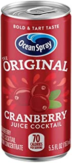 Ocean Spray Juice Drink, Cranberry Juice Cocktail, 5.5 oz Mini Cans (Pack of 24)