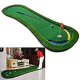 XIEZI Alfombrilla Verde para Putt De Golf, Alfombrilla para Putt De Golf para Interiores Y Exteriores, para Oficina Y Patio Trasero, Juego De Práctica De Puttout para Adultos Y Niños, Ayuda
