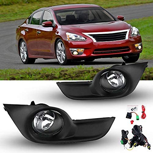 Fog Lights for 2013 2014 2015 Nissan Altima Sedan with Clear Lens Fog Lamps Replacement H11 product image