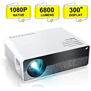 """ELEPHAS Projector Q9 Native 1080P HD Video Projector, 5500 Lumens up to 300"""" Image Display Ideal for PPT Business Presentations Home Theater Entertainment Parties Games"""