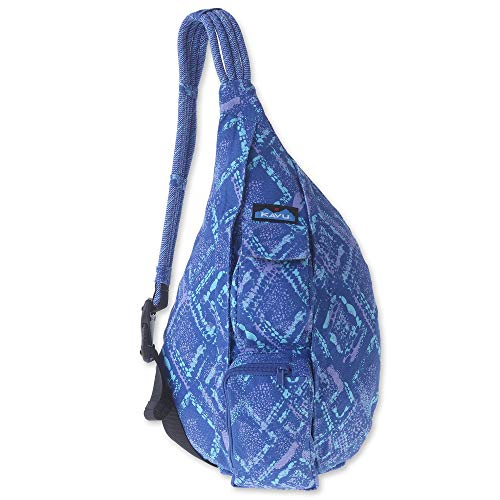 KAVU Rope Bag - Sling Pack for Hiking, Camping, and Commuting - Ocean Overlay