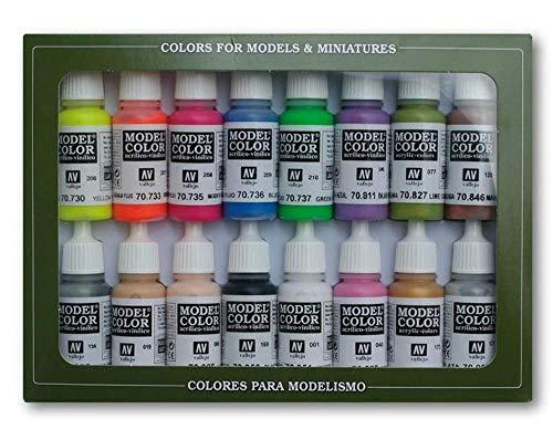 Vallejo Model Color Wargames - Set Pittura Acrilica, 16 x 17 ml, Colori Asortiti