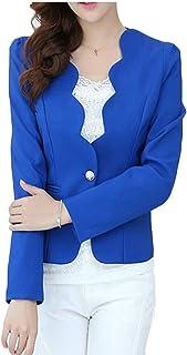 chenshiba-JP 女性の固体カラー作品はワンボタンエレガントブレザージャケットをコート