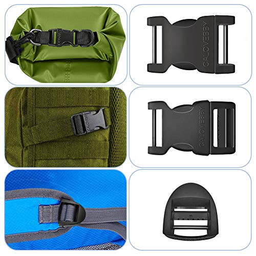 Field Repair Buckle 1 Inch Plastic Buckles 1 inch Side Release Adjustable Buckle 1 Inch 2pc Quick Release Buckles with a Ladder Lock 1 Inch