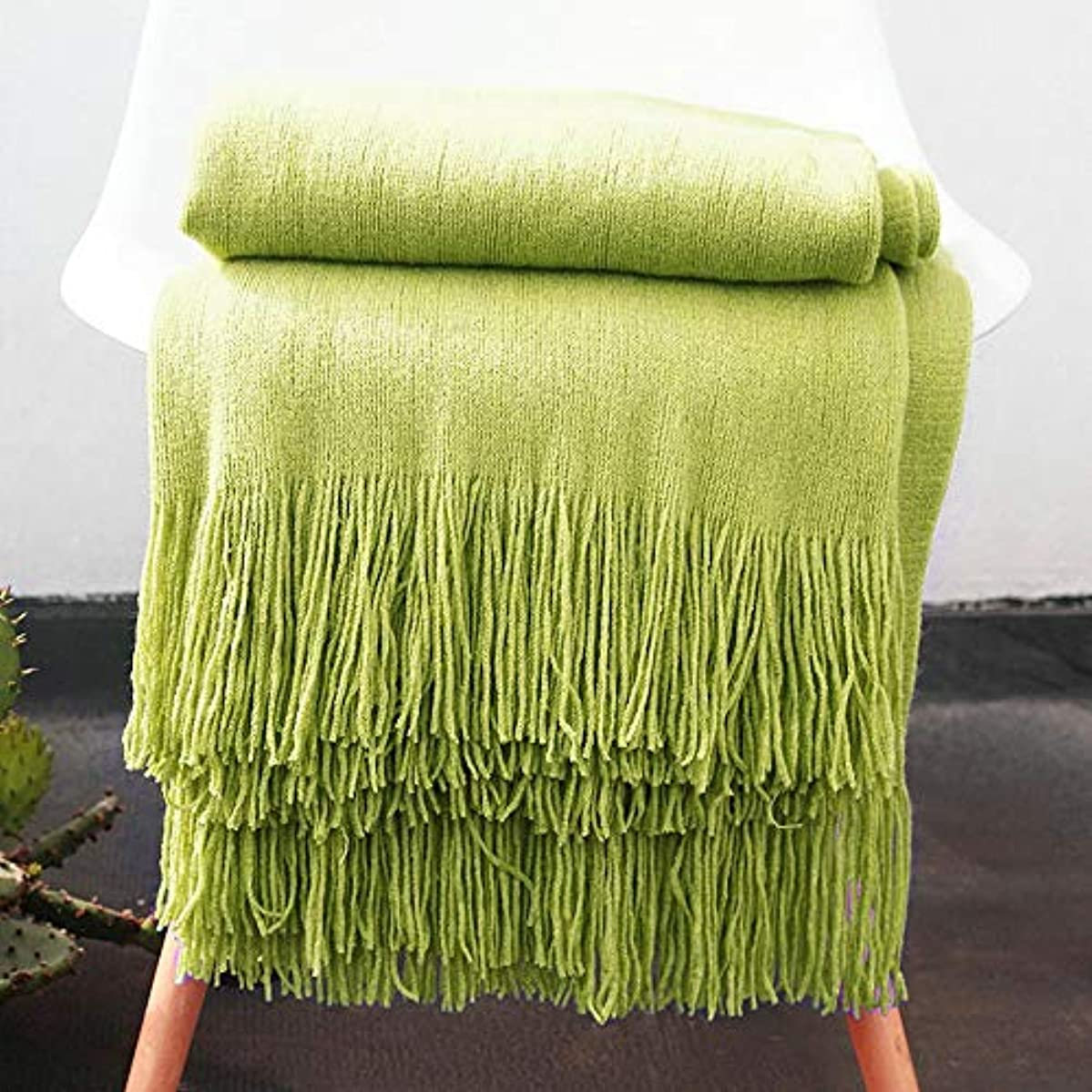 florance jones Soft Throw Blanket Warm Knit Textured Solid for Bed Sofa Couch Washable 50 x 60 | Model THRW - 1233 |