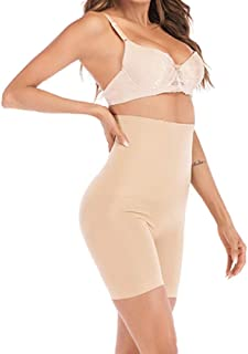 Seamless Women High Waist Slimming Tummy Control Pant Briefs Shapewear Weight Loss Shorts Thigh And Waist Shaping New Makfacp (Color : Apricot, Size : S)