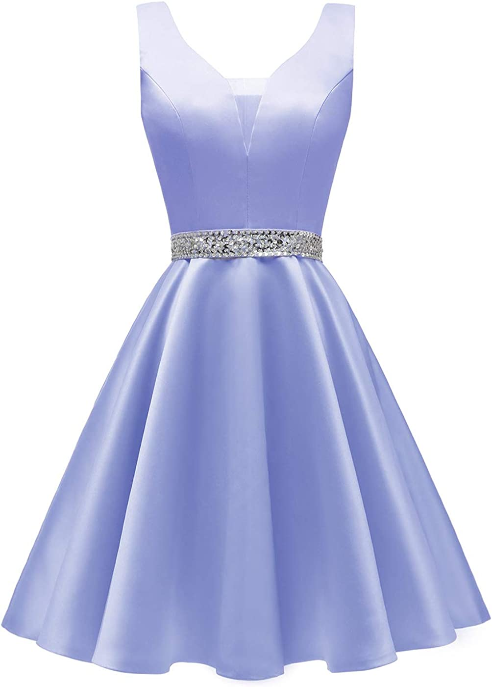 Yexinbridal Homecoming Dresses Short Beaded Prom Dress V-Neck Glitter Party Evening Gowns
