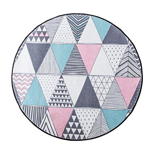 Mjb Teppich, dreieckig, kreisförmig, für Wohnzimmer/Schlafzimmer, 150 * 150cm-a