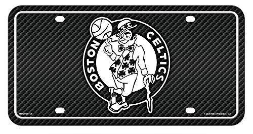 Rico Industries, Inc. Boston Celtics Metal Tag License Plate Carbon Fiber Design Premium Aluminum Novelty Basketball