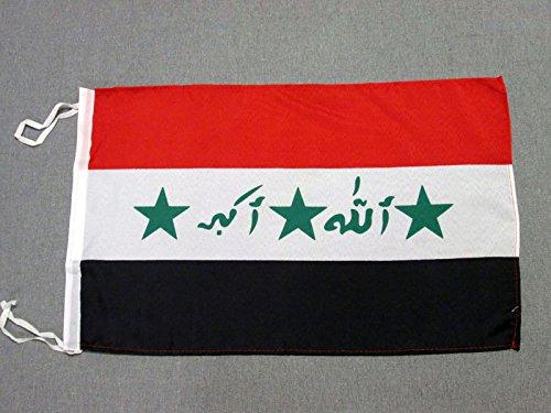 AZ FLAG Flagge IRAK ALT 2004-2008 45x30cm mit Kordel - IRAKISCHE Fahne 30 x 45 cm - flaggen Top Qualität