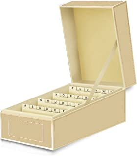 Semikolon Business Card File Box, Dividers A to Z, Chamois (3230017)