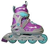Lenexa Inline Skates for Girls with Adjustable Sizing Athena Kids in-line Roller Skate