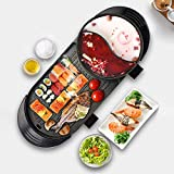 5 Speed Fire Adjustment Electric Barbecue Stove Indoor Hot Pot, 2400W Large Capacity Multifunctional...