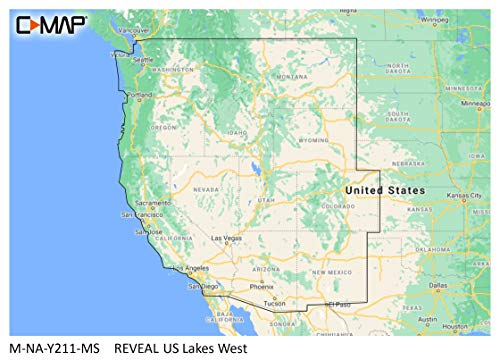 C-MAP Lowrance M-NA-Y211-MS Reveal US Lakes West