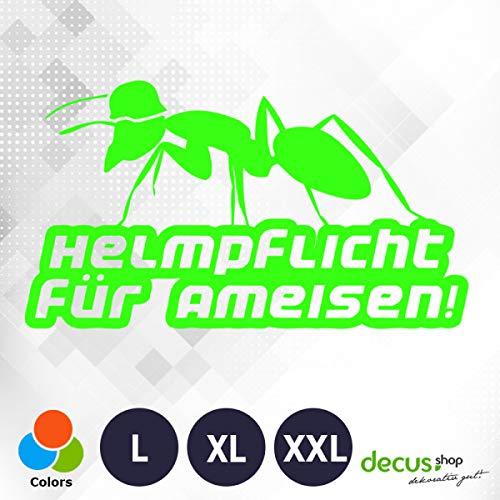 Decus Helmpflicht für Ameisen! XL 0064 (neon grün) // Sticker OEM JDM Style Aufkleber