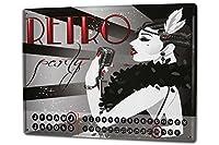 カレンダー Perpetual Calendar Fun rative Retro party Tin Metal Magnetic