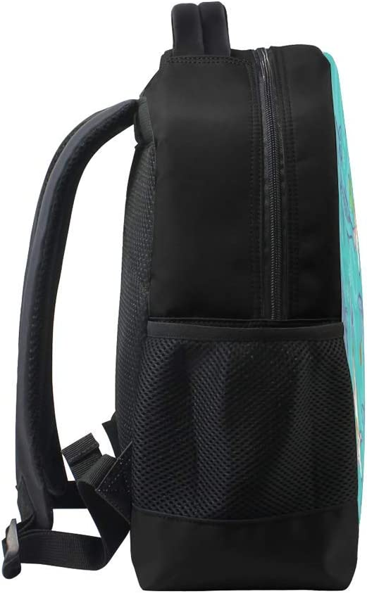 Nuansexi School Laptop Computer Backpacks Adjustable Shoulder Collage Notebook Bag Durable Anti Theft Double Zipper Multiple Pockets Fish Swimming Autumnd Student Girl Boy 11 inch