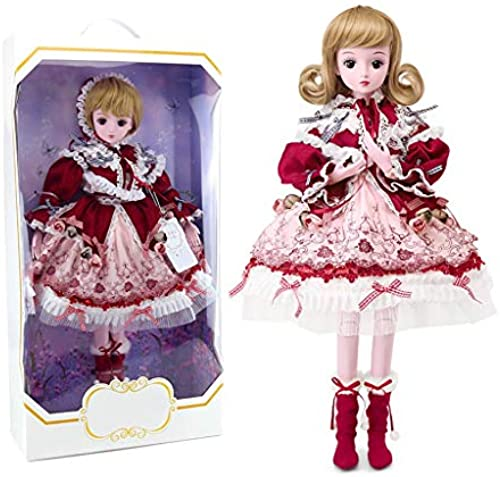 Mode mädchen Puppe Sch  Prinzessin Doll Girl Dress Up Prinzessin Doll Gift High 6cm (Farbe   E)