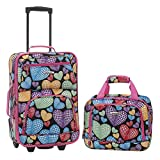 Rockland Fashion Softside Upright Luggage Set, New Heart, 2-Piece (14/19)