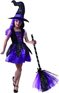 Halloween Witch Costume For Girl,Purple Octopus Girl Princess Dress Up Witch Cosplay Costume