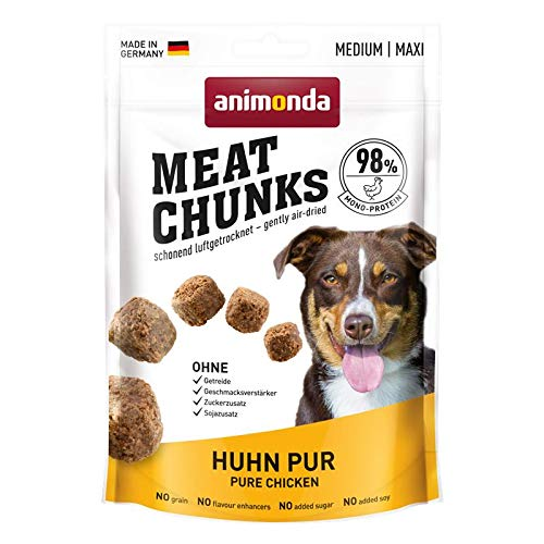animonda Dog Snack Meat Chunks Huhn pur | 12x 80g