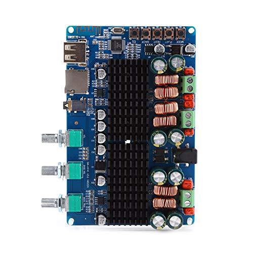 Akozon Digital 2.1 kanaals versterkerplaat Bluetooth USB TF ingang 50W + 50W stereo 100W subwoofer uitgang home stereo versterker voor luidspreker