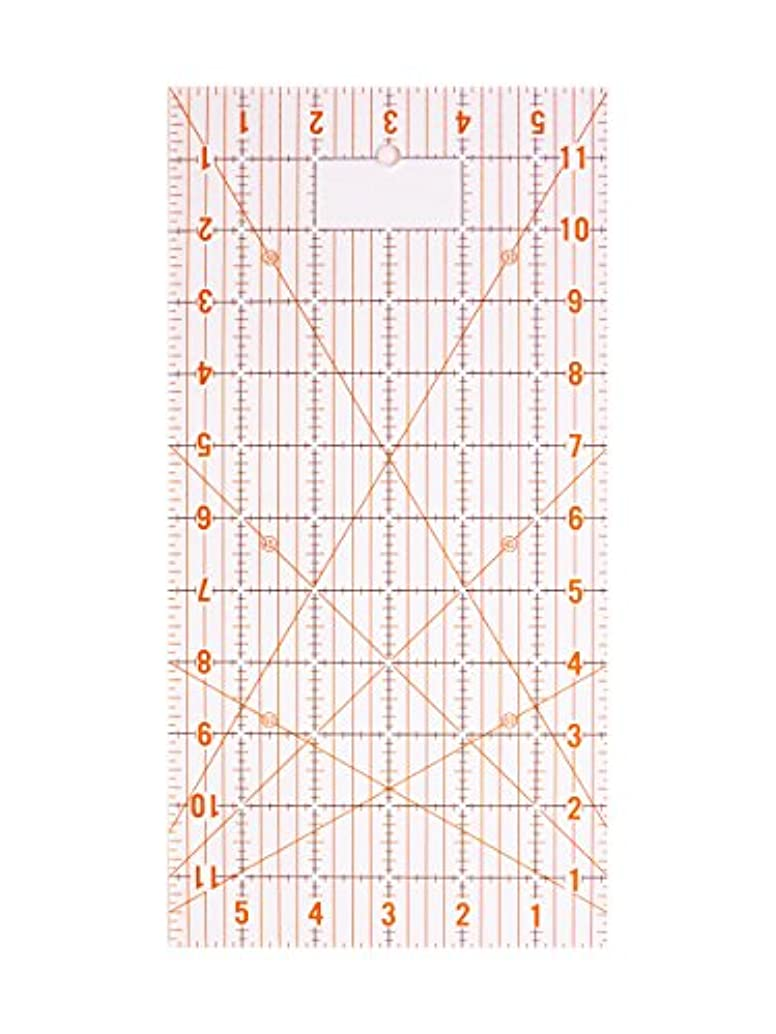 DAFA Acrylic Quilting Ruler, Inches (6 inches x 12 inches)