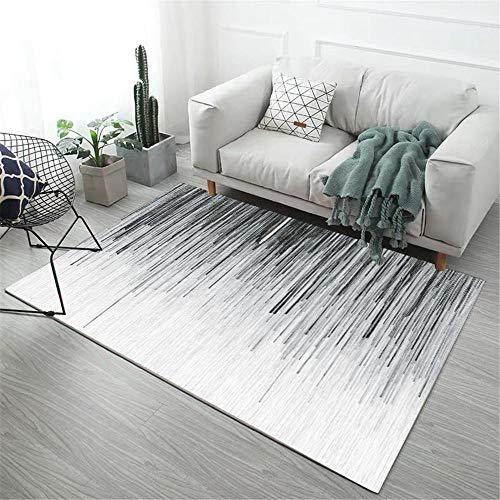 WQ-BBB Higroscópico Alfombraes Alfombra Comedor Diseño de Estilo Degradado Gris Blanco Negro Simple Bonita El Dormitorios Moqueta 200X300cm