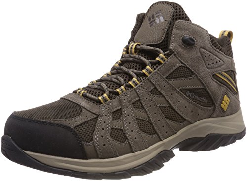 Columbia Canyon Point Mid, Zapatillas de Senderismo Impermeables para Hombre, Marrón (Cordovan, Dark Banana), 42 EU