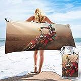 Hogar y cocina Baño Textiles de baño Toallas Toallas de playa Quick Dry Beach Towel Music Themed Hand Drawn Abstract Instruments Microphone Drums Keyboard Stradivarius Microfiber-Sand Free-Lightweight