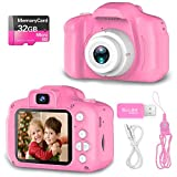 Hachi's Choice Gift Kids Camera Toys for 1-9 Year Old Girls, Compact Cameras for...