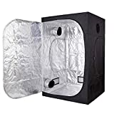 TopoGrow D-Door 60'X60'X78' Indoor Grow Tent Room 600D Mylar High Reflective Non Toxic Hut 5'X5'