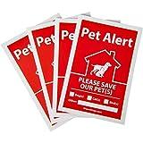 iHeartDogs Pet Alert Stickers 4-Pack | UV...