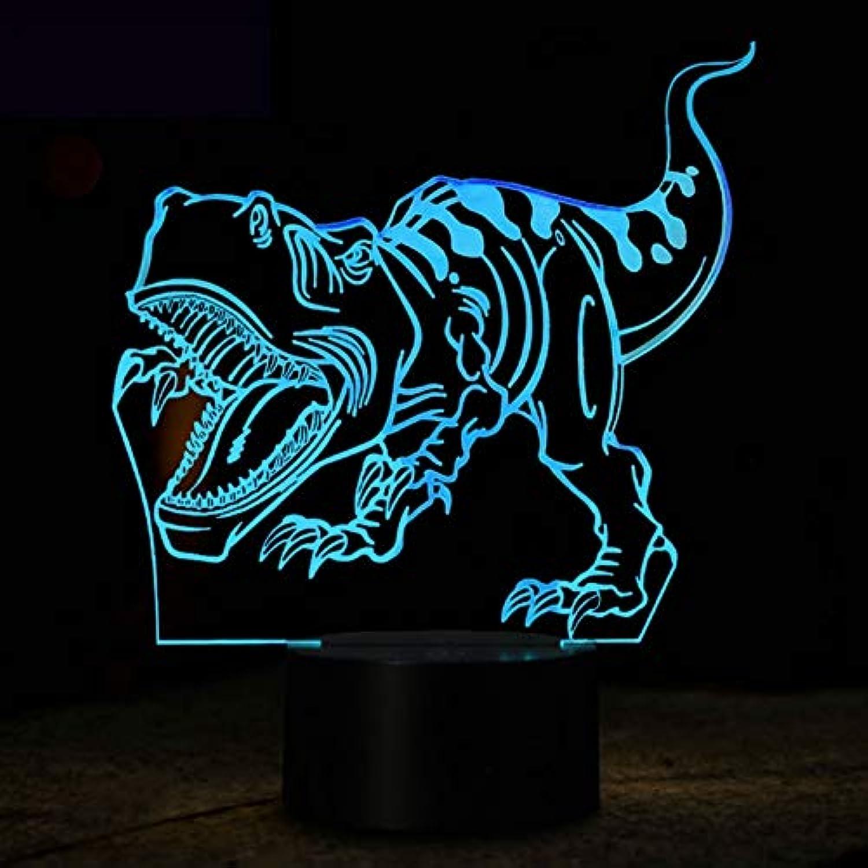 Wuqingren Dinosaurier 3D LED Lampe Nachtlicht Illusion Nachtlampe LED 7 Farbwechsel USB Kinder Schlafen Lichter Geburtstagsfeier Geschenk,A3,Blautooth Speakers