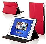 Forefront Cases Sony Xperia Z3 Tablet Compact 8 inch SGP611 Smart Custodia Caso Case Cover Conchiglia - Ultra Sottile con Protezione Dispositivo Completa e funzione Auto Sveglia/Sonno (ROSSO)