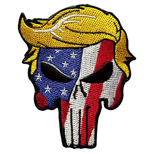 ruggito Trump Keep America Great 2020 Moral auf Patch genäht Machen Sie Amerika wieder großartig Gestickter Klett-Patch(Style 01)