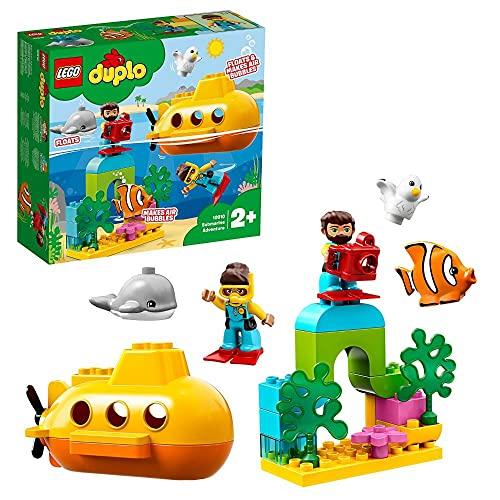 LEGO 10910 DUPLO Town U-Boot-Abenteuer, Badespielzeug das Luftblasen Macht, Bauset für Kinder im Alter von 2 Jahren