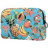 Bolsas de aseo para mujer, bolsa de maquillaje, organizador de cosméticos de viaje, color negro geométrico con cremallera