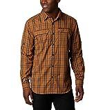 Columbia Camisa de Manga Larga a Cuadros Silver Ridge™ 2.0 para Hombre, Color Plateado RidgeTM 2.0 a Cuadros L/S, para Hombre, extendido, 1838912, Cuadros ámbar bruñido, 4X