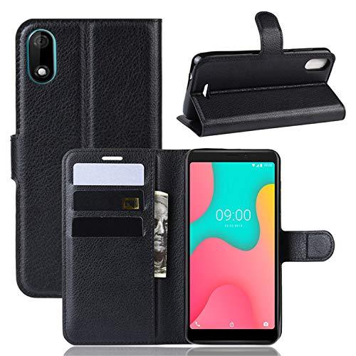 betterfon | Wiko Y60 Hülle Handy Tasche Handyhülle Etui Wallet Hülle Schutzhülle mit Magnetverschluss/Kartenfächer für Wiko Y60 Schwarz