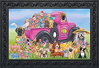 Briarwood Lane Easter Dogs Holiday Humor Doormat Decorated Eggs Indoor Outdoor 18
