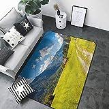 Washable Kitchen Area Rug Nature,Julian Alps Mountain Valley 60'x 96' Kitchen Floor mats