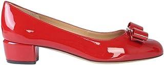 SALVATORE FERRAGAMO Women's 591964 Red Leather Pumps