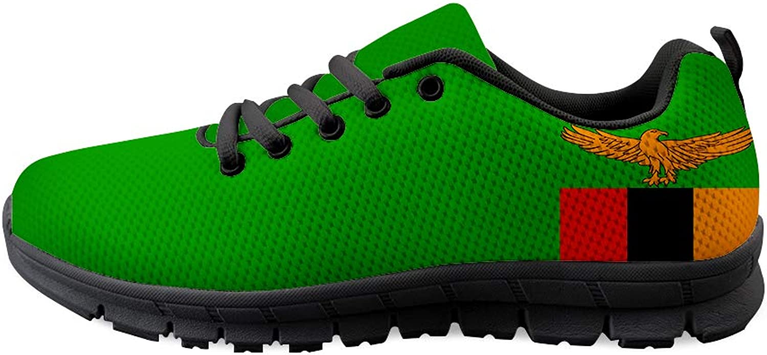 Owaheson Lace-up Sneaker Training shoes Mens Womens Zambia Flag