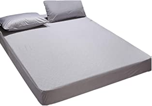 Mattress Cover with Fitted Skirt (up to 30cm Deep Pocket) Breathable Machine Washable Mattress Protection Cover Moisture P...
