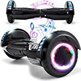 Magic Vida 8´´ Patinete Eléctrico Bluetooth Scooter Monopatín Auto-Equilibrio Patín (Negro)