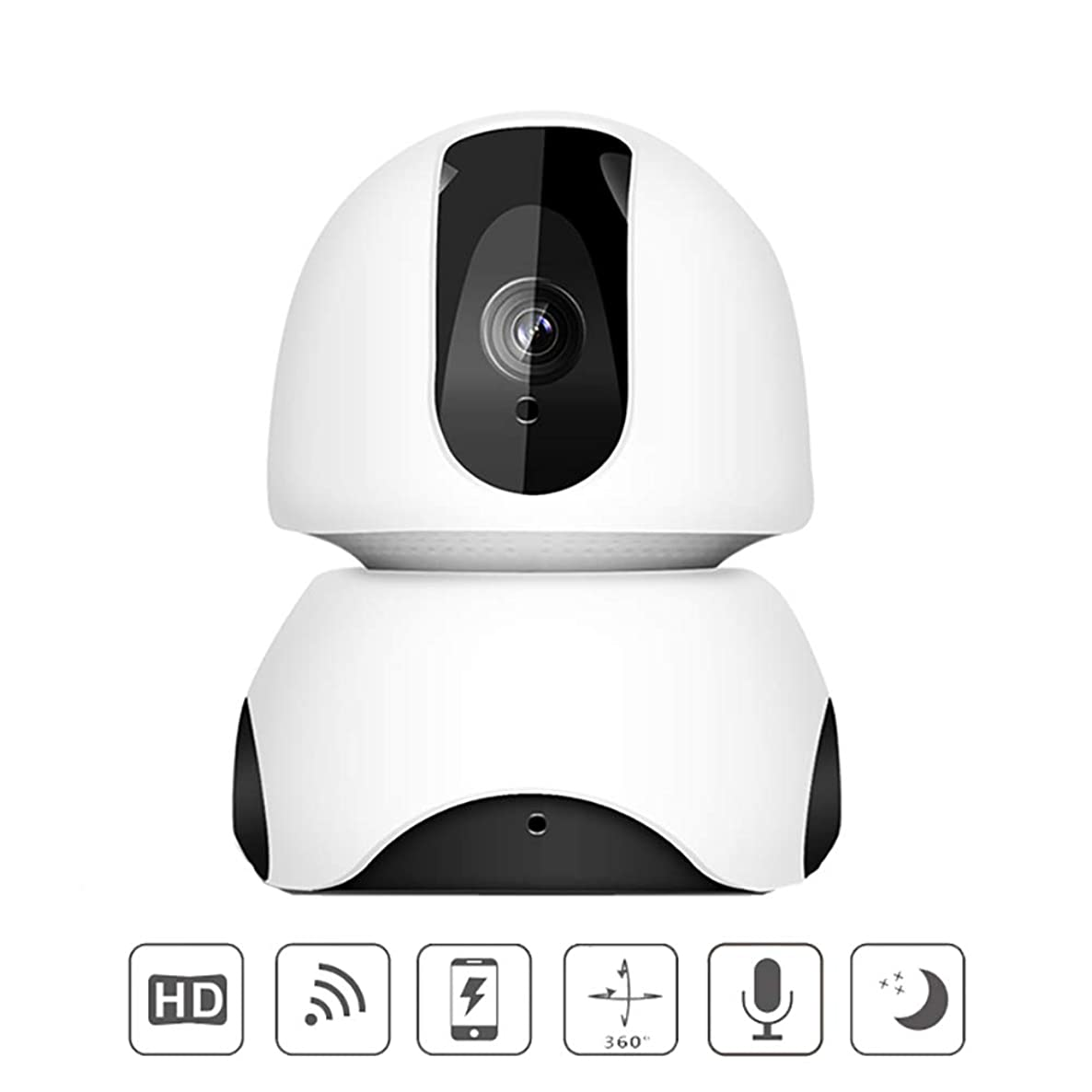 Home Security Camera Wireless WiFi IP Camera with Two-Way Audio Motion Detection, HD Night Vision, Remote View, for Pet/Nanny/Elder/Baby Monitor,1080P