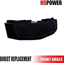 HS Power Black Front Grill 2007-2014 for Cadillac Escalade Sport Mesh Hood Bumper Grille Cover ABS